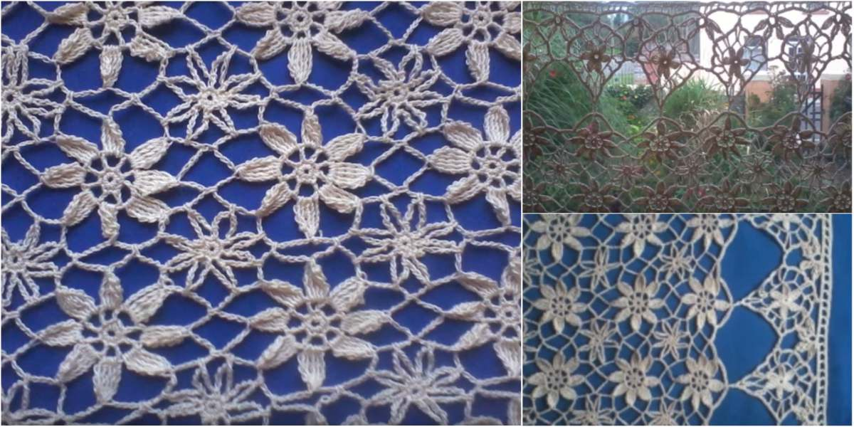Lace Curtain In Crochet Lace Free Pattern Video Styles Idea