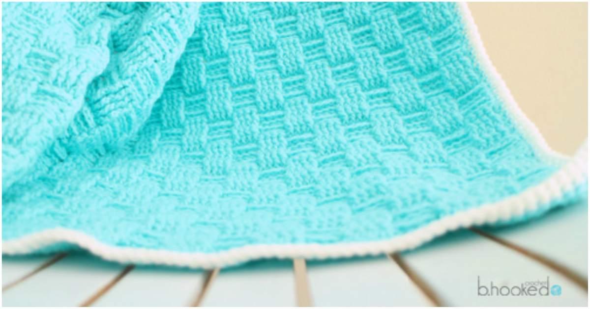Baby Crochet Blanket Basket Weave Styles Idea