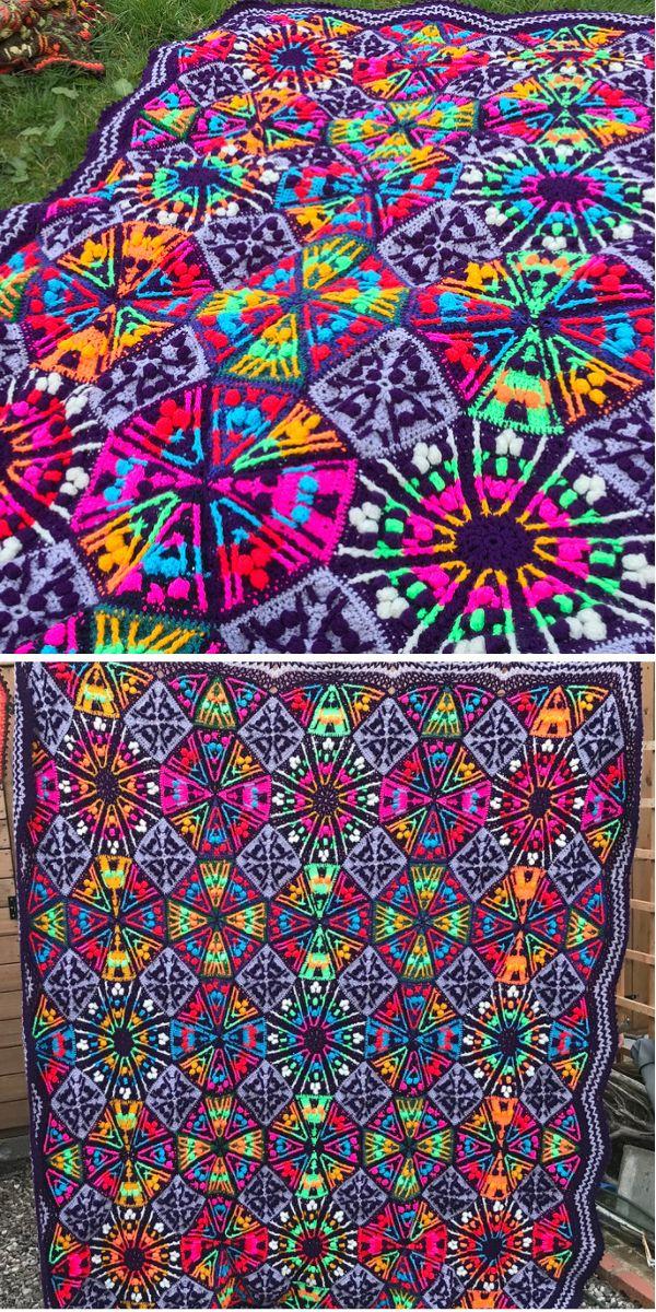 Nicks Kaleidoscope Blanket....VIVID!