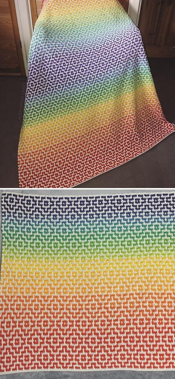 Nya Infinity Mosaic crochet Blankets
