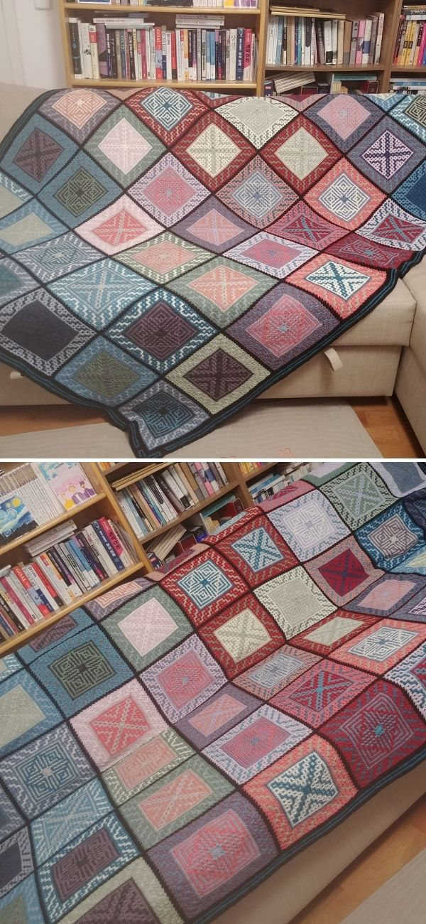 2020 Wroclaw Temperature Tile Blanket
