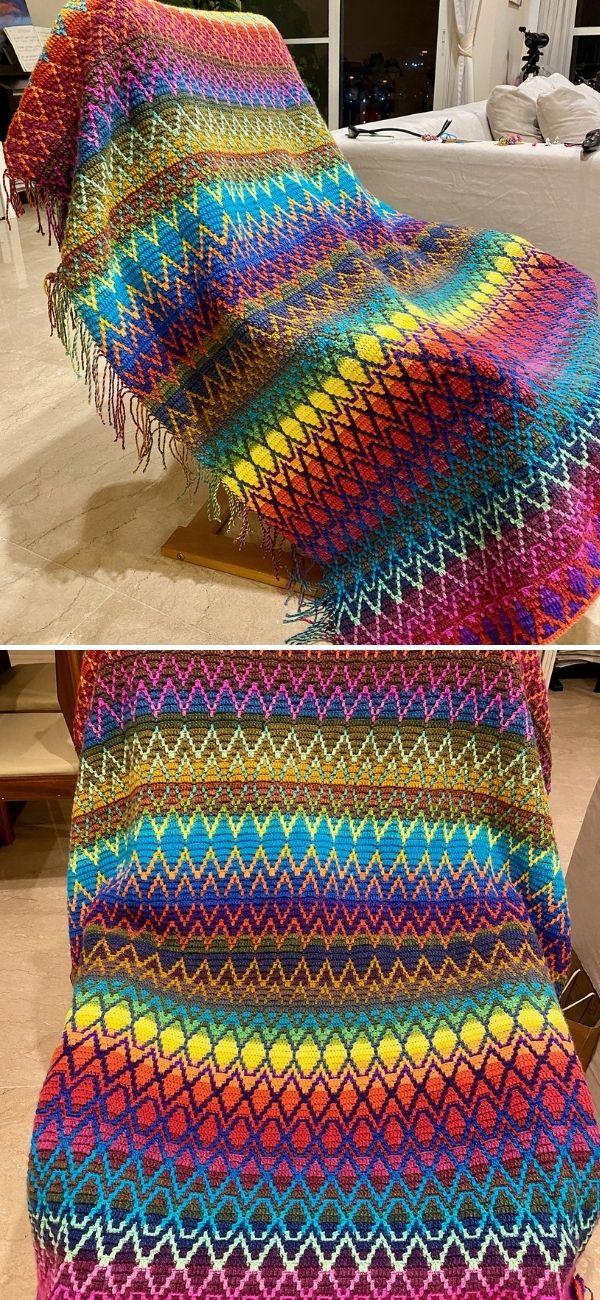 Friendship mosaic crochet Blankets