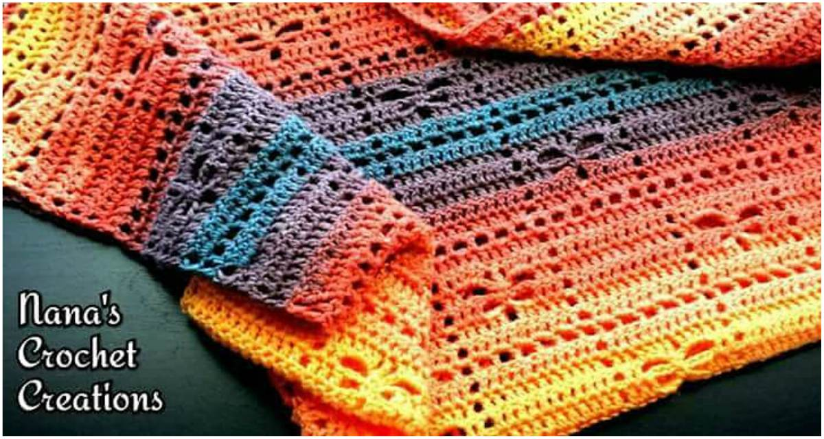Square Dancing Dragonflies Blanket Crochet Pattern Free